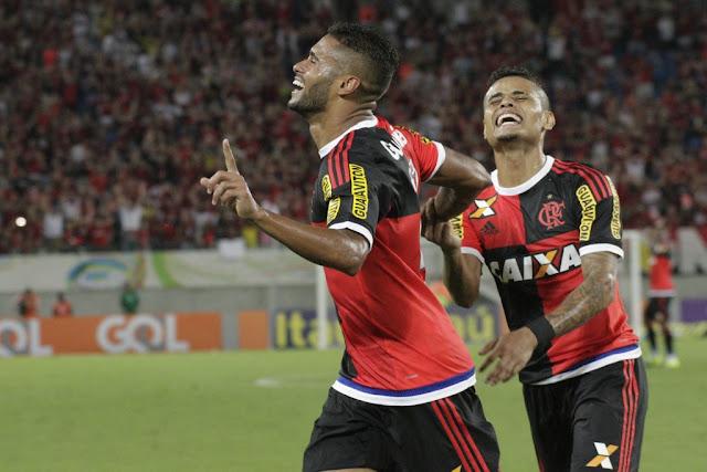 Ex-ABC, Kayke marcou dois gols na vitória rubro-negra em Natal (Foto: Gilvan de Souza/Flamengo)