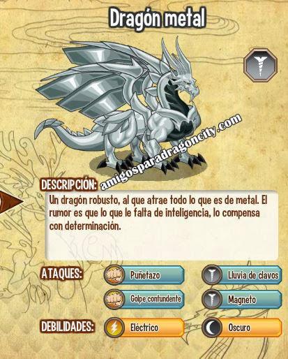 imagen de las caracteristicas del dragon metal
