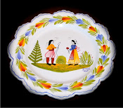 QUIMPER WEDDING PLATE