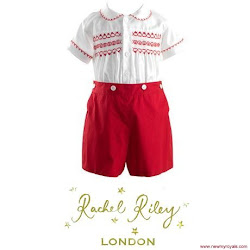 Prince George Style Rachel Riley Set and Start-Rite Shoes