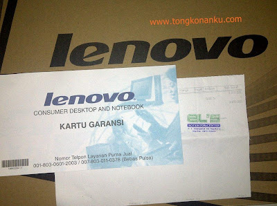 Kartu garansi laptop lenovo