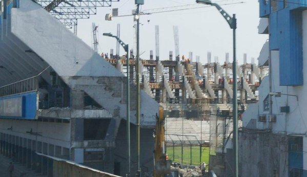 El estadio Capwell, en pleno proceso de remodelación