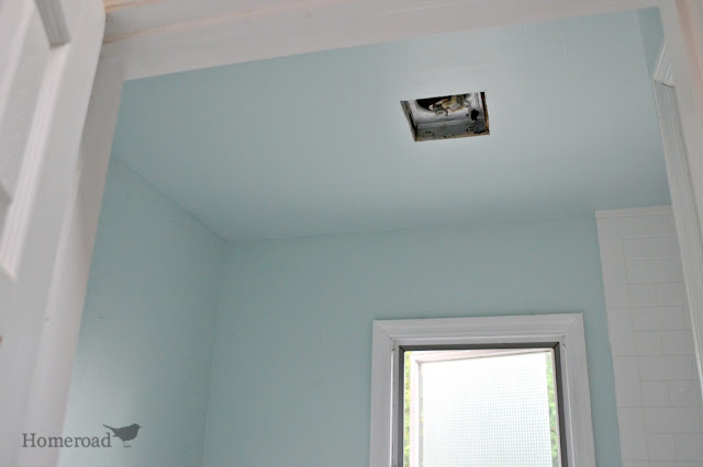 painting the bathroom ceiling