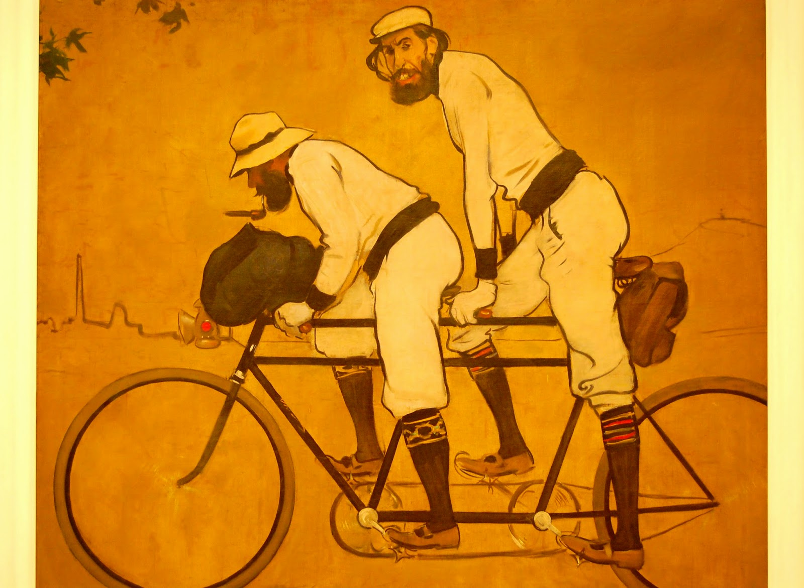 Ramon Casas and Pere Romeu on a Tandem, by Ramon Casas