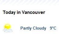 Ванкувер. Погода.