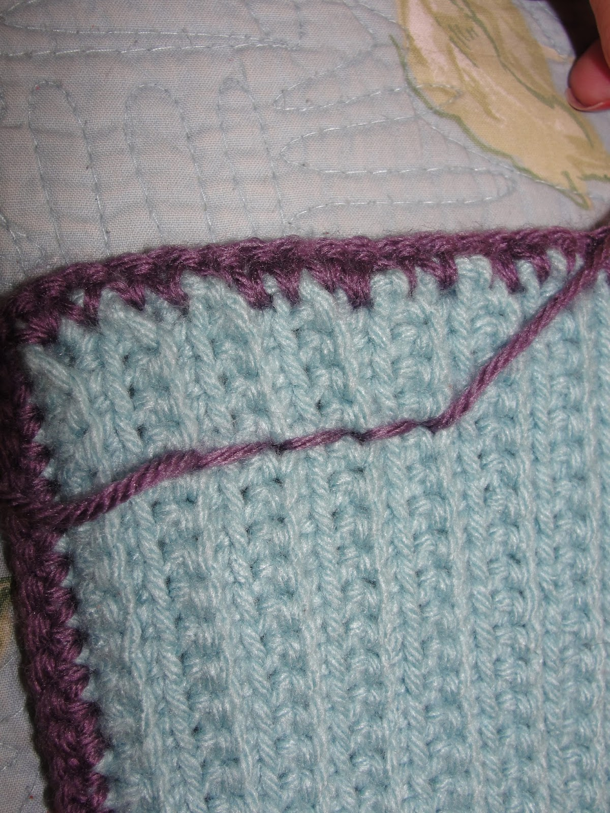Slot stitch crochet