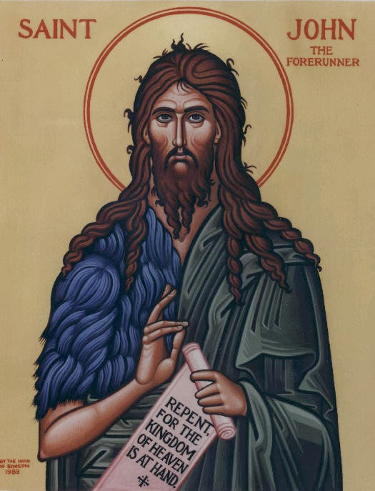 Patron Saint for 2014: John the Baptist