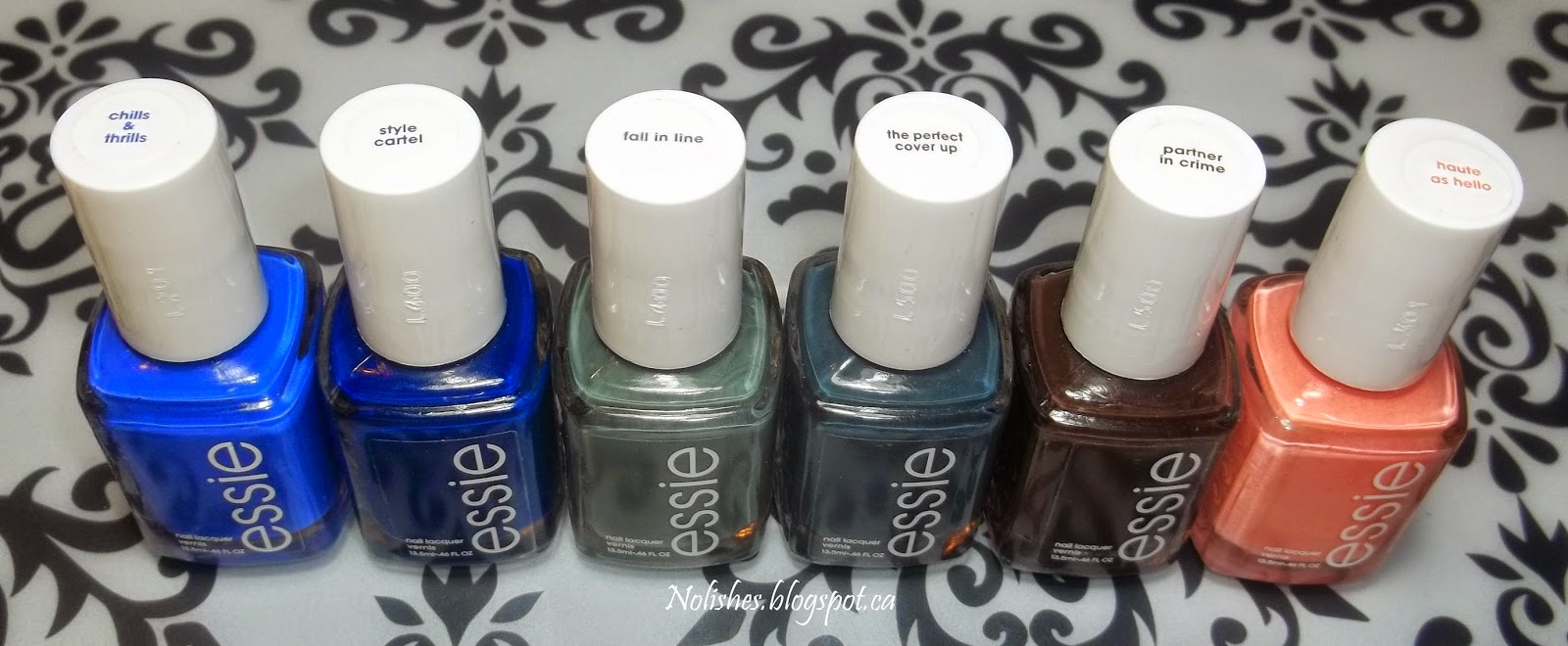 'Chills and Thrills', 'Style Cartel', 'Fall in Line', 'The Perfect Cover Up', 'Partner in Crime', and 'Haute as Hello'