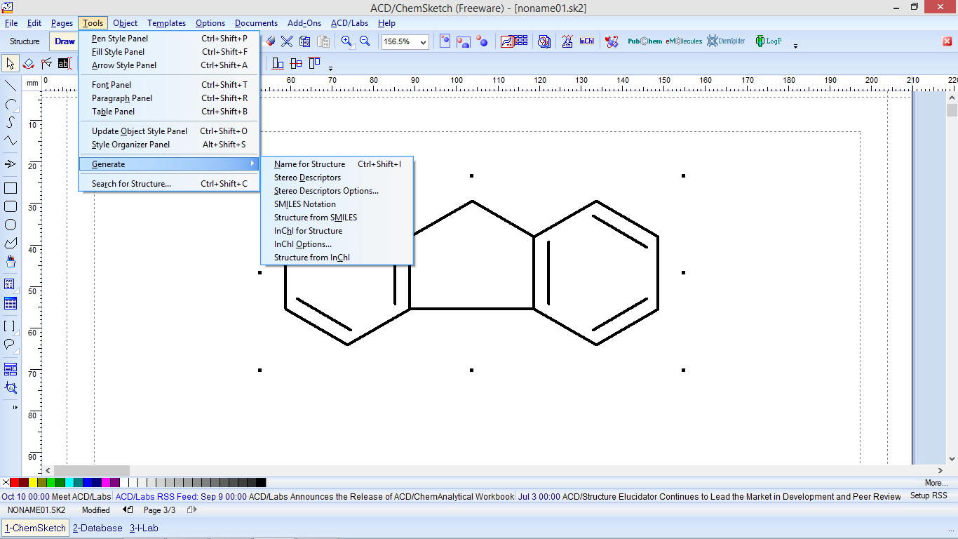 Chemsketch Benzene Ring
