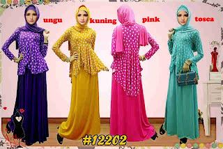 Setelan Hijab Kaos Jersey Motif Bunga