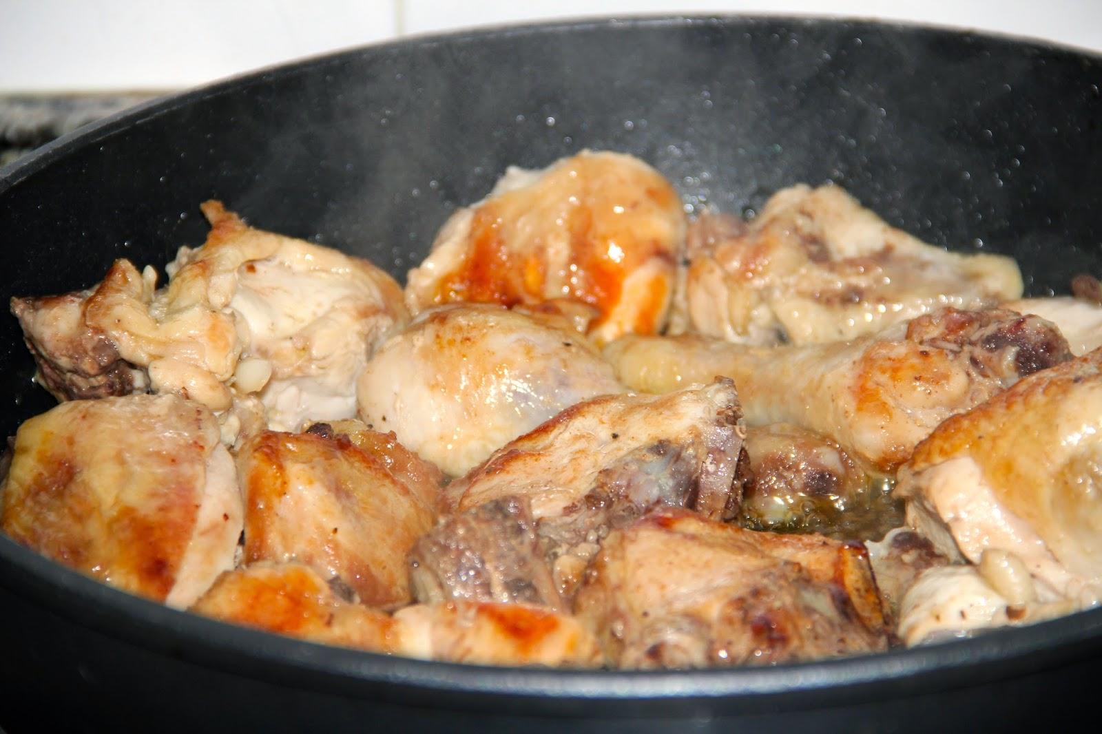 Cocinar es vivir y bordar tambi n pollo con melocot n y for Pollos titos soler