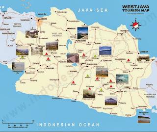 Peta Wisata dan Rute Objek Wisata Jawa Barat