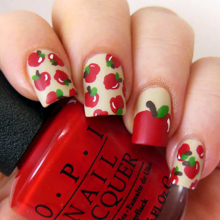 Last Autumn Nail Art Of The Year: Did My Nails: Apple Nail Art