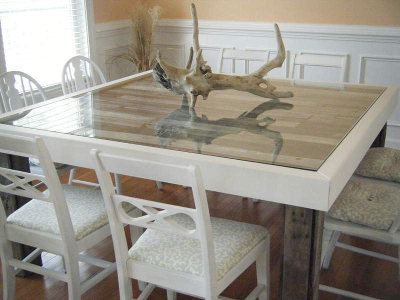 Beach Inspired Dining Room Table | Reduce, Reuse, UPcycle!