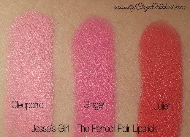 Jesse's Girl Lipstick - The Perfect Pair - Swatches
