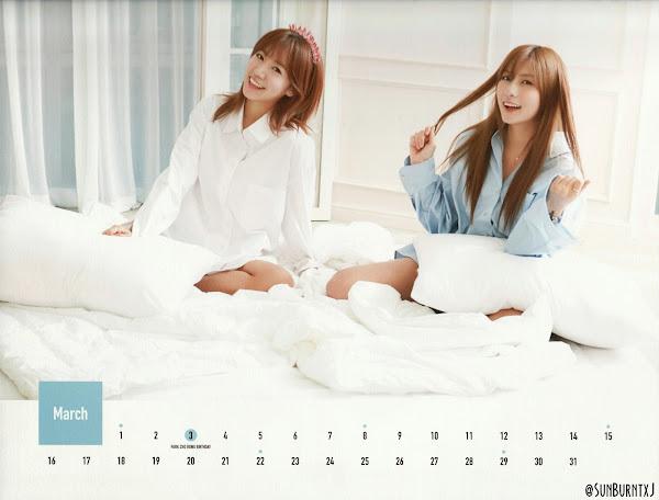 Apink calendar 2015 scans Namjoo Hayoung