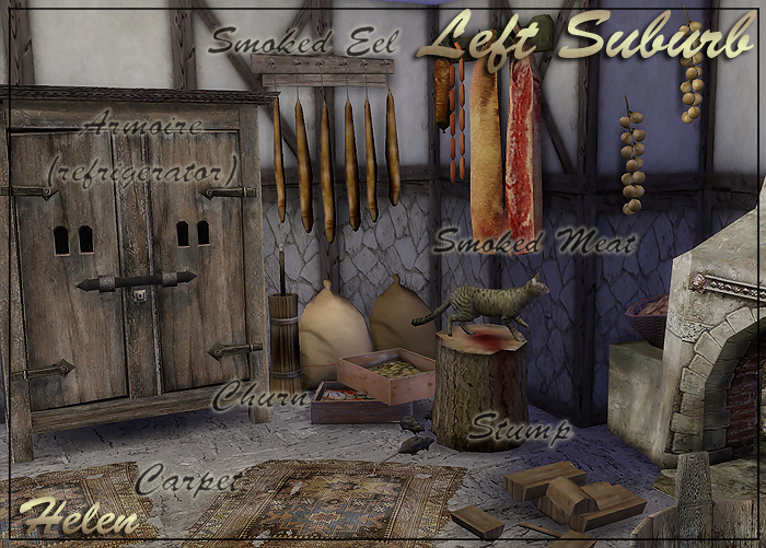 My Sims 4 Blog Left Suburb Medieval Set 34 Objects By Helen