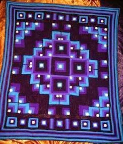 Original Mandala Geometric crochet blanket - Free Pattern