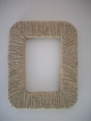 wrapped picture frame diy
