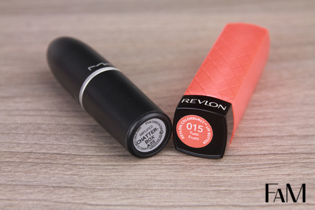 My current summer lip combo - Mac Chatterbox and Revlon Lip Butter Tutti Frutti