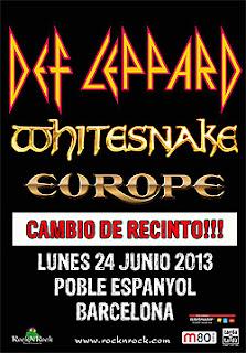 Concierto Def Leppard, Whitesnake y Europe en Barcelona