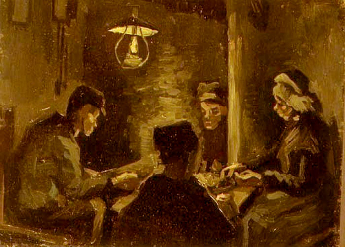 Tableau les mangeurs de pommes de terre vincent van gogh tableaux et peintures - Van gogh comedores de patatas ...