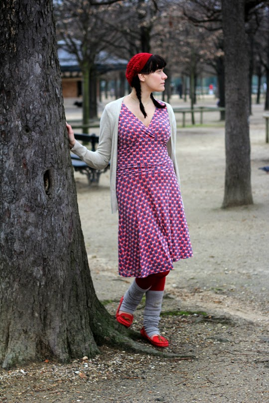 Boden dress and leg warmers