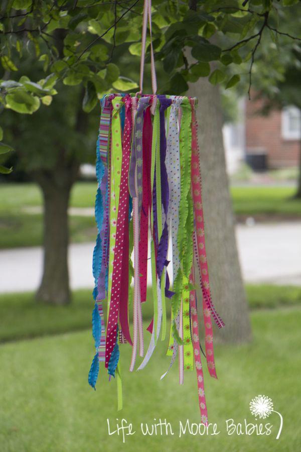kids activities ribbon wind sock craft