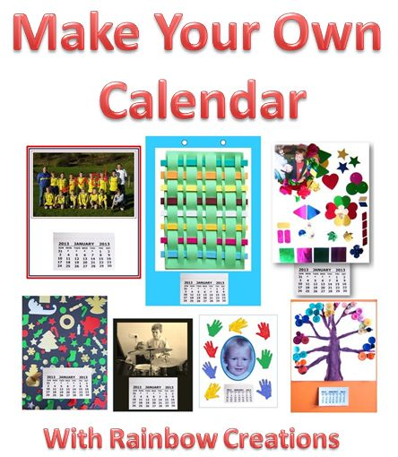 Calendar Kids Craft : Rainbow creations art and craft for children