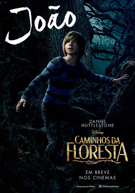 """""""Caminhos da Floresta"""" (Into The Woods) posteres brasileiros Daniel Huttlestone"""