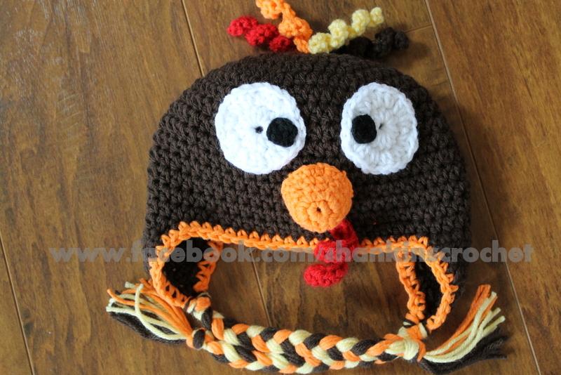 Crochet Baby Hat Pattern Super Bulky Yarn : My Creative Side: Turkey Hat {FREE PATTERN}