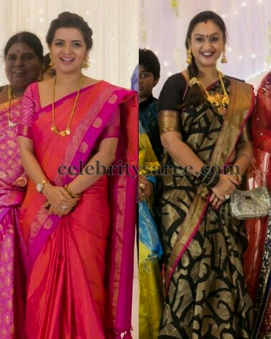 Preeta and Divyadarsini Silk Sarees