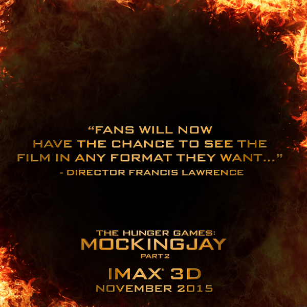hunger games mockingjay part two imax 3d 2d