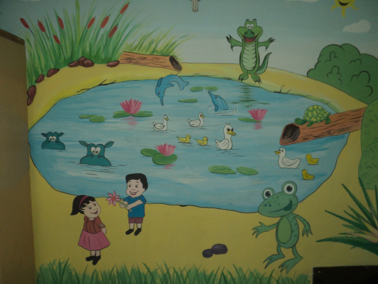 Day care classroom wall murals goregaon andheri malad for Classroom wall mural