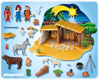 Ba l de navidad portal de bel n playmobil con figuras del - Figuras belen infantil ...