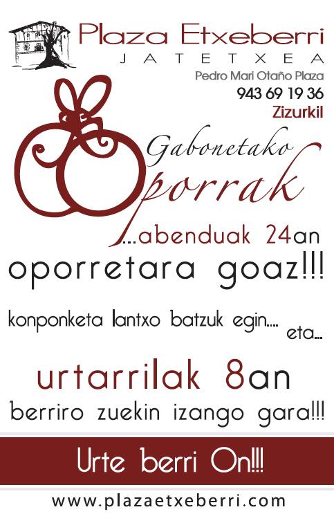 Gabonetako Oporrak 2012 | Vacaciones de Navidad 2012