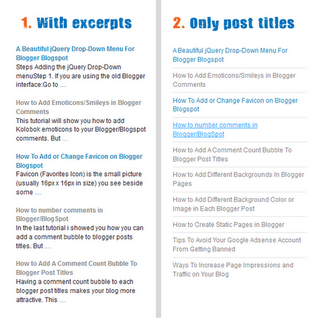 Adding Simple Recent Posts Widget in Blogger