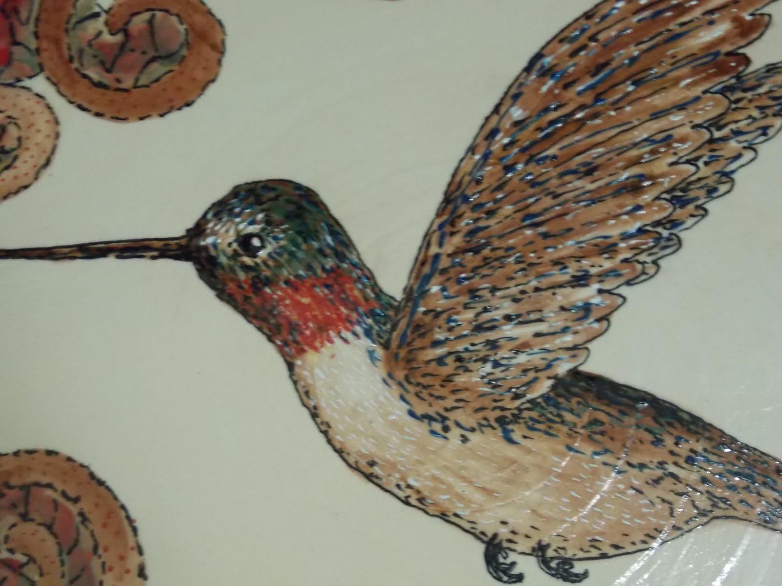 Humming bird detail