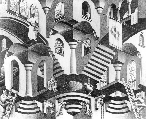 Form And Space In Art : Vista art projects m c escher negative positive space it s all
