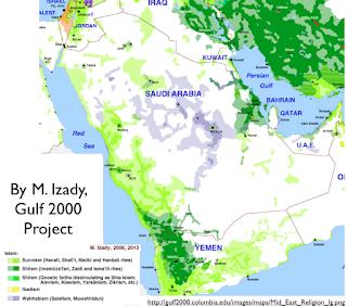 Mapa onde se mostra a distribuição da população por religião