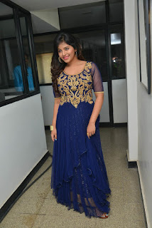 Actress Anjali Latest Pictures in Blue Long Dress at s Dictator Movie Launch Event  012