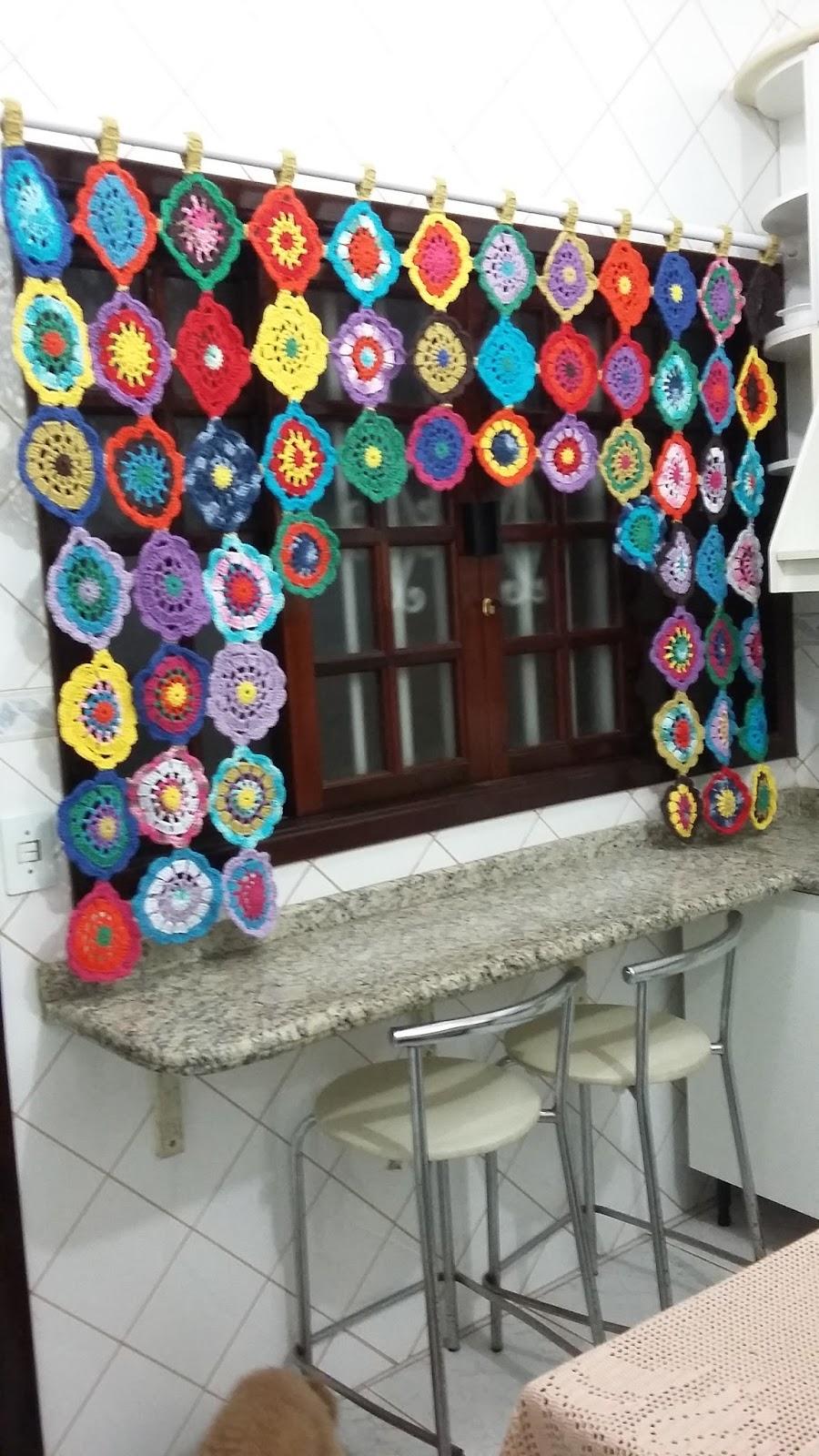 Adesivo Olhinhos Fechados ~ Coisas da Musky Artesanato Cortinas Cortina de croch u00ea Barbante Barroco Cozinha