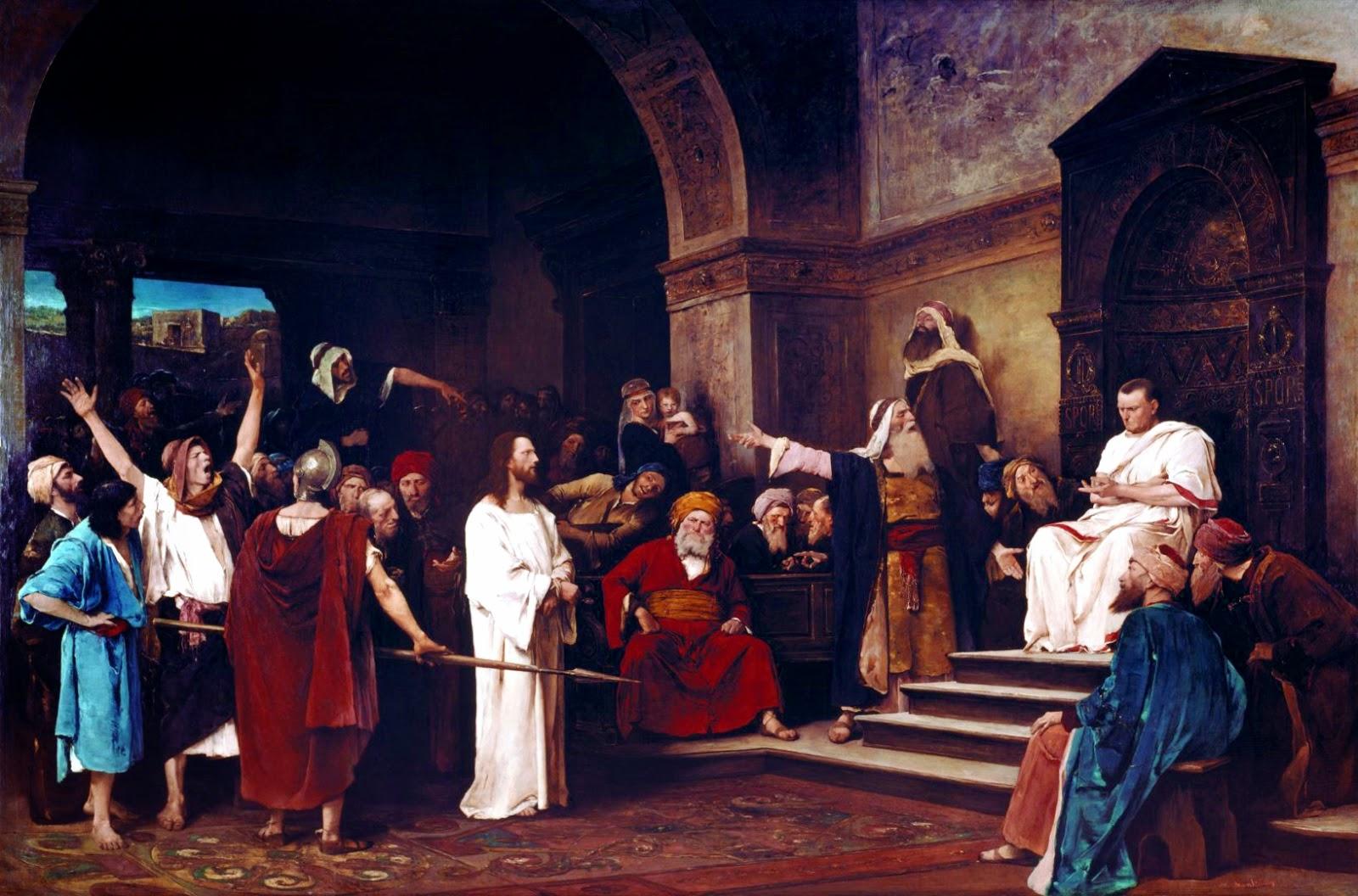 Munkácsy Mihály, Krisztus-trilógia, festmény, kultúra, kulturális örökség, Krisztus Pilátus előtt, Déri Múzeum,