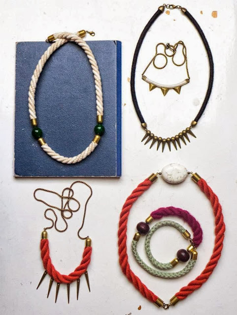 Necklaces from the new collection by Trincar Uvas