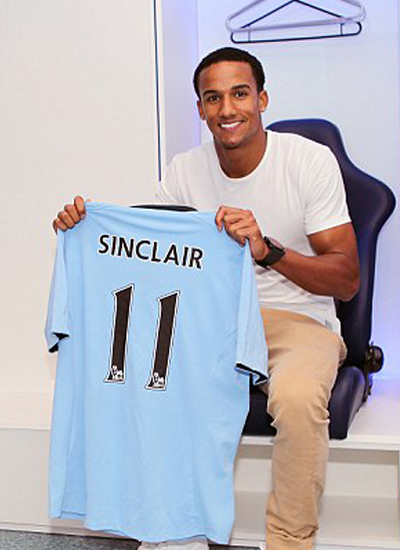 Sinclair joins Manchester City 2012