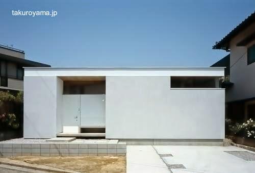 Casa residencial minimalista japonesa de una planta