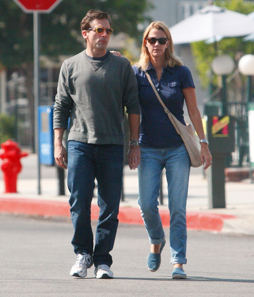 Steve Carell with sympathetic, Wife