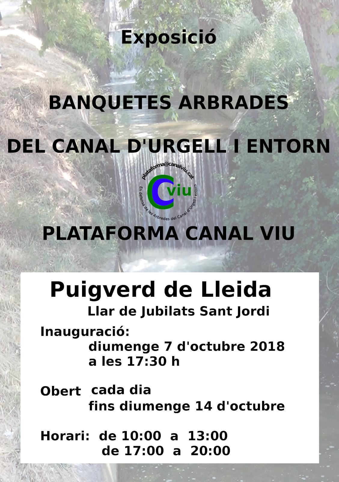 exposició Banquetes Arbrades a Puigverd