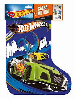 Calza Hot Wheels 2014 Mattel motori regali giocattoli sorpresa contenuto prezzo