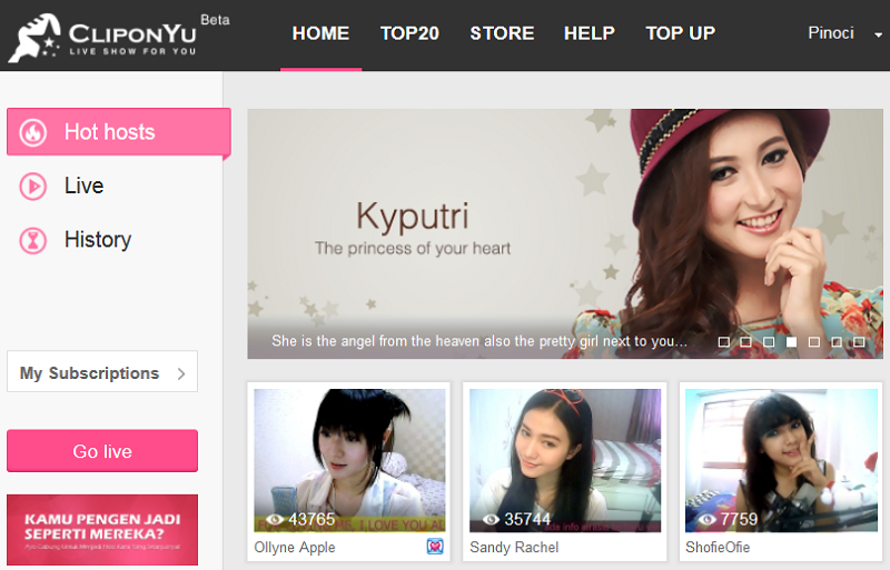 CliponYu: Website Live Streaming Show Pertama di Indonesia